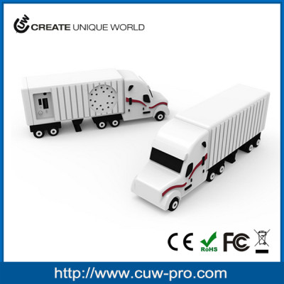 exquisite custom PVC material truck shaped wireless bluetooth speaker as promo gadgets