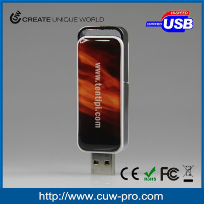 usb pen drive with customized epoxy sticker for giveaways