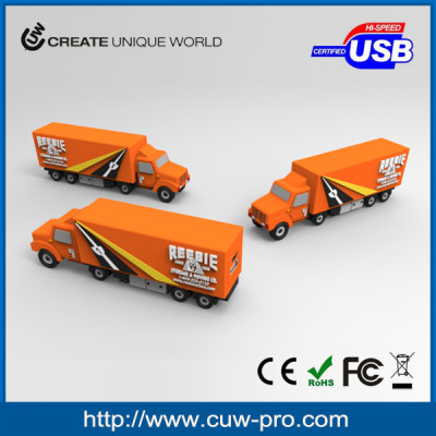 personalized external pvc power bank charger truck shape full capacity 2000-3000mAh for promotional gift