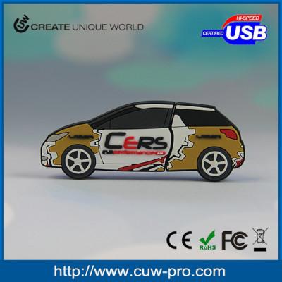 individual car shape pvc usb flash drive for promotion