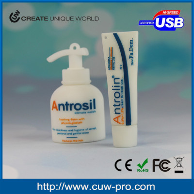 Personal care kit hand washing and toothpaste customized pvc usb gadget 4G 8G 16G for promotion gift