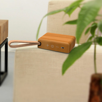 2017 New Trending Eco-Friendly Unique Design Wooden Mini Bluetooth Speaker with Touch Buttons