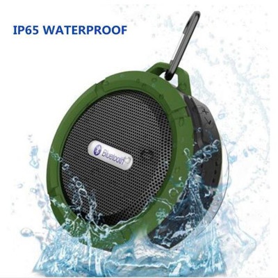 Portable Wireless Waterproof Bluetooth Speaker with Suction Cup for Outdoor