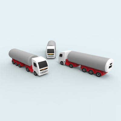 top selling custom molded tank truck shape power bank 2200mAh best promotion gift for project events
