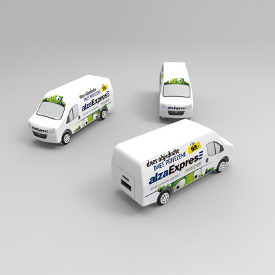 personalized minibus shaped powerbank charger 2000/2200/2500/3000mAh for express transport companies events gift