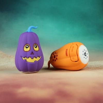 custom pumpkin shape 3D PVC bluetooth speaker for Halloween