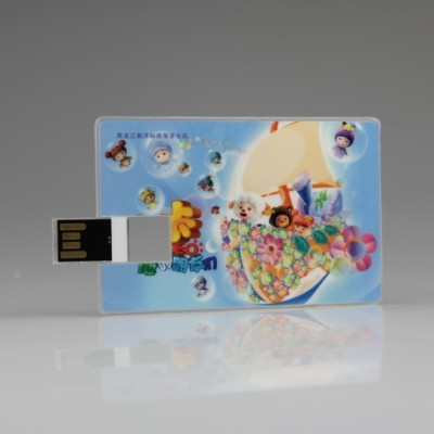 wafer usb flash memory with full color printing sticker