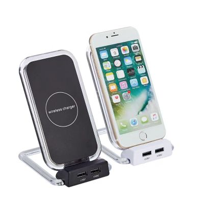 standing wireless charger with 2 usb outports