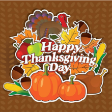 Happy Thanksgiving Day to our customers!