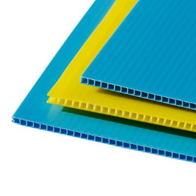 Lightweight PP hollow sheet, corrugated plastic sheet with corona treated
