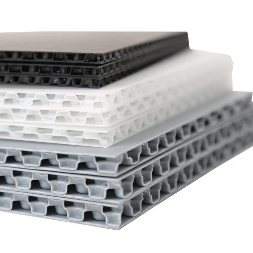 Durable polypropylene honeycomb panel for turnover boxes