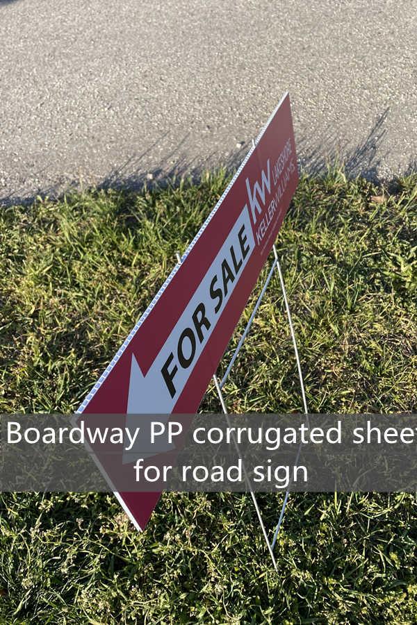 PP correx sign board