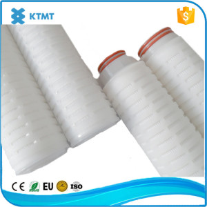 Hydrophobic PVDF pleated filter cartridge