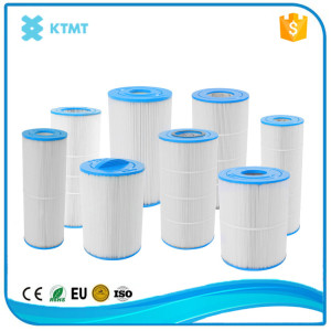 Swimming pool and spa filter cartridge for water filtration