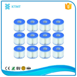 Swimming pool cleaning filter cartridges for pool filter equipment