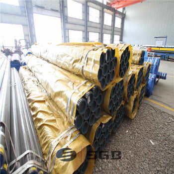 construction material galvanised steel pipe/ galvanized seamless steel pipe