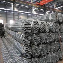 Pre-galvanized round erw black carbon steel pipe manufacturer price