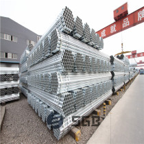 Hot Dipped Galvanized Round Steel Pipe / GI Pipe Pre Galvanized Steel Pipe Galvanised Tube For Structure