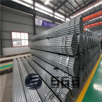 Green house pre galvanized steel pipe supplier gi round hollow section different size of galvanized steel pipes