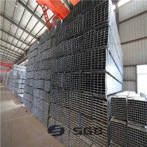2mm thickness wall 6m length 60*60mm 80x80mm rectangular pre-galvanized steel pipe