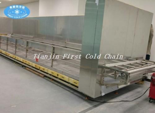 Túnel congelador de alta calidad de 500 kg / h / congelador rápido para camarones