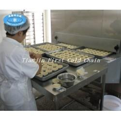 Quick Freezing Equipment IQF Pizza congelada o tarta de huevo para masa
