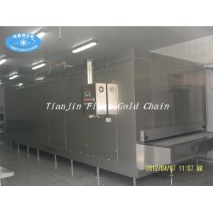 China IQF Quick Freezing para alimentos congelados con estructura completa de acero inoxidable