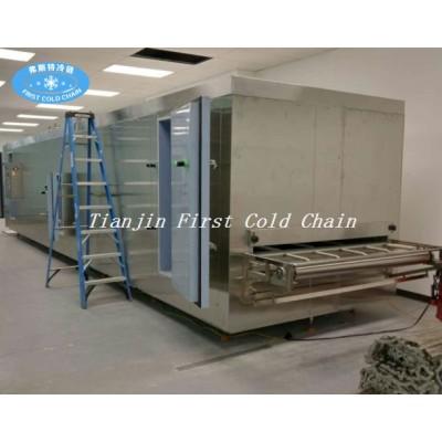 Congelador rápido rentable de 150 kg / h para alimentos congelados