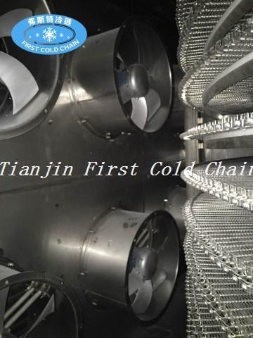 La rentable congelador rápido en espiral de China 1000kg / h de exportación a Marruecos para camarones