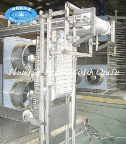 China ráfaga espiral rápida de alta calidad del congelador 500kg / h para SeaFood
