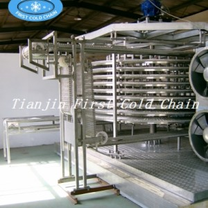 China Double Spiral freezer Machine/ Spiral  Freezer for seafood from first cold chain