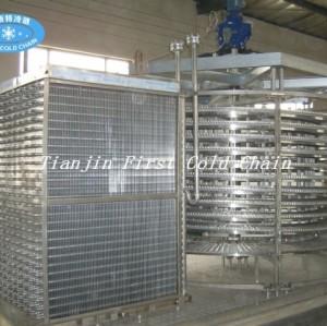 Congelador en espiral / Congelador en espiral doble / Congelador rápido industrial con explosión