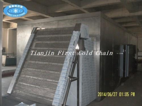 Máquina de congelación rápida fluidificada por fruta / equipo de procesamiento de alimentos