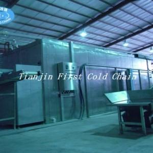 Congelador rápido fluidificado de alta calidad para frutos de marisco frutas vegetales