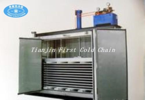 Congelador rápido de la placa de contacto de los pescados y mariscos de la venta caliente / congelador rápido de la ráfaga de IQF