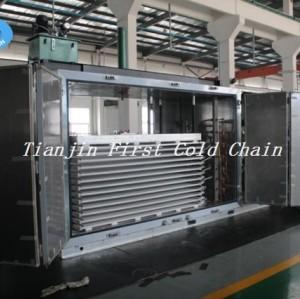 Machine de congélateur de plat d'industrie BQF pour la congélation rapide de fruits de mer de bloc