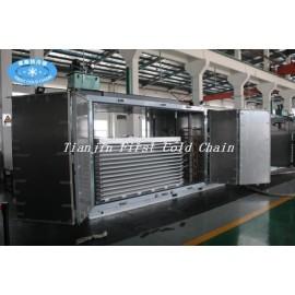 Máquina del congelador de la placa del túnel de la industria IQF para congelar rápido de la comida