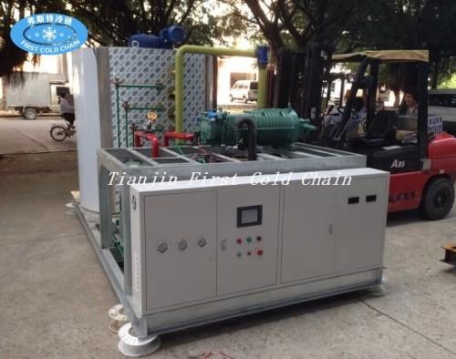 Máquina para hacer hielo en escamas de alta eficiencia energética 5T / 24H con acero inoxidable completo