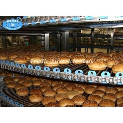 Torre de enfriamiento de alimentos ampliamente utilizada en pan tostado de hamburguesa.