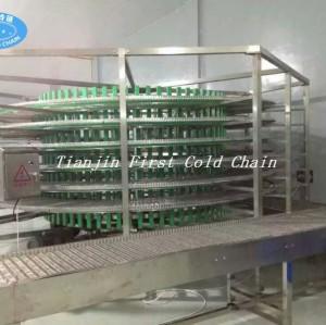 La ligne de pain automatique a utilisé la tour de congélation en spirale / tour de refroidissement des aliments