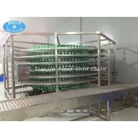 Línea de pan automática utilizada torre de congelación en espiral / torre de enfriamiento de alimentos