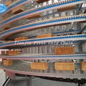 Хлебопекарное оборудование Тостовый хлеб, спиральная градирня, спиральный конвейер охлаждения
