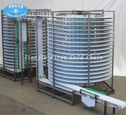 Torre de enfriamiento del equipo de horneado de control computarizado para pan transportador