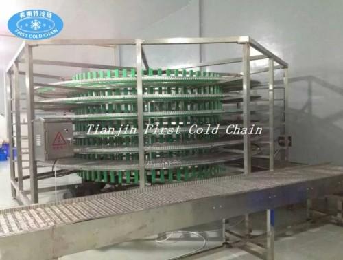 Torre de enfriamiento espiral completamente automática de alta calidad para la industria de la hornada