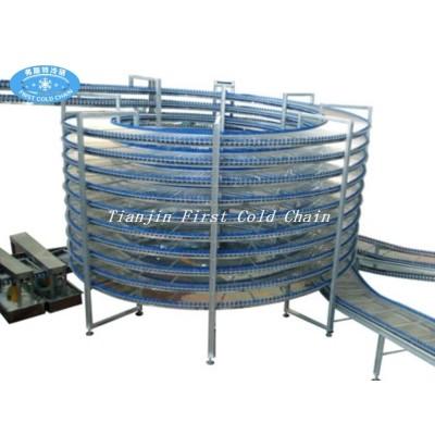 Torre de enfriamiento del equipo de horneado de control computarizado para pan transportador, galleta