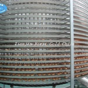 Tour de refroidissement tour de refroidissement spirale de pain de hamburger en acier inoxydable bakey