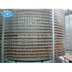 Cooling tower bakey stainless steel hamburger bread spiral cooling tower