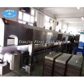 Machine de congélateur d'azote liquide à basse température de Burger Patty Falafel de 300kg / h