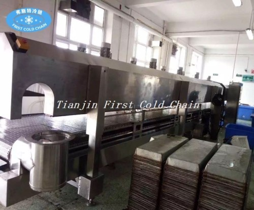 300kg / h Burger Patty Falafel de baja temperatura de nitrógeno líquido congelador de la máquina
