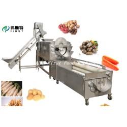 Vegetable Fruit Ginger Potato Brush Roller Peeling washing Machinery